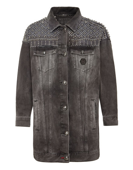 Denim Jacket Gothic Plein