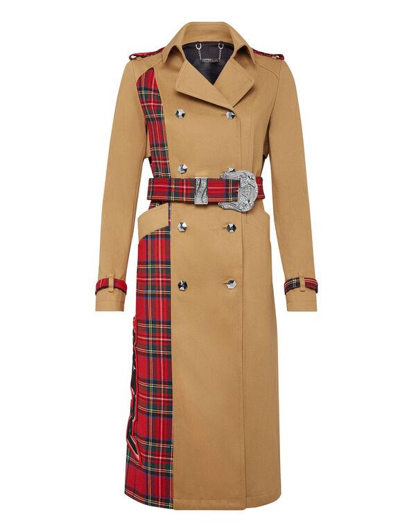 Trench coat Tartan