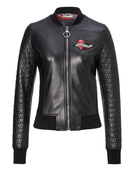 Leather Bomber Heart