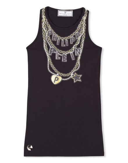 T-shirt Short Dress Chained Hearth