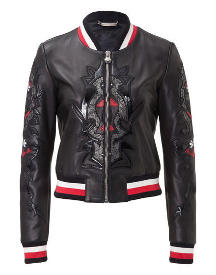 Leather Bomber Moore