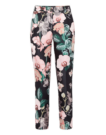 Long Trousers Regular Fit Flowers