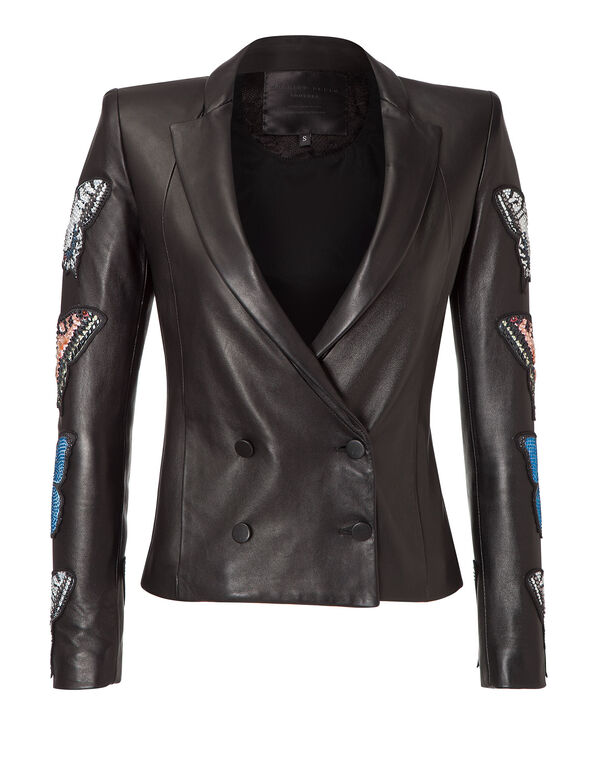 "leather jacket ""cipriani"""