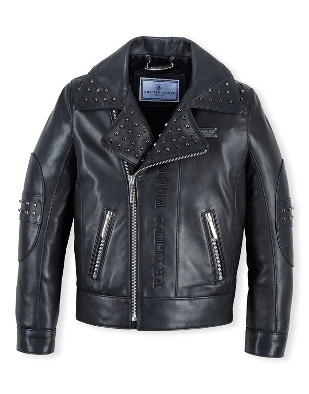 "Leather Biker ""Black Circle"""