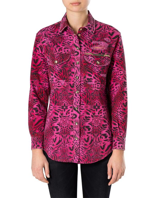Denim Shirt Ls Pink paradise