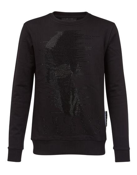 Sweatshirt LS Half skull