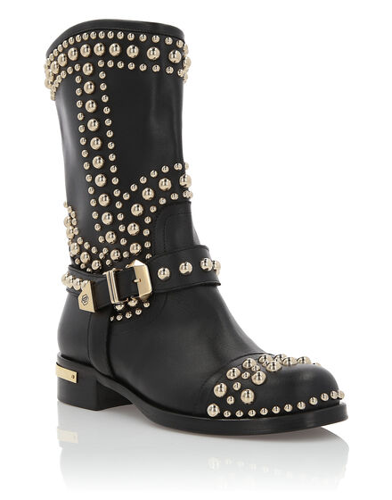 Boots Mid Flat Studs girl
