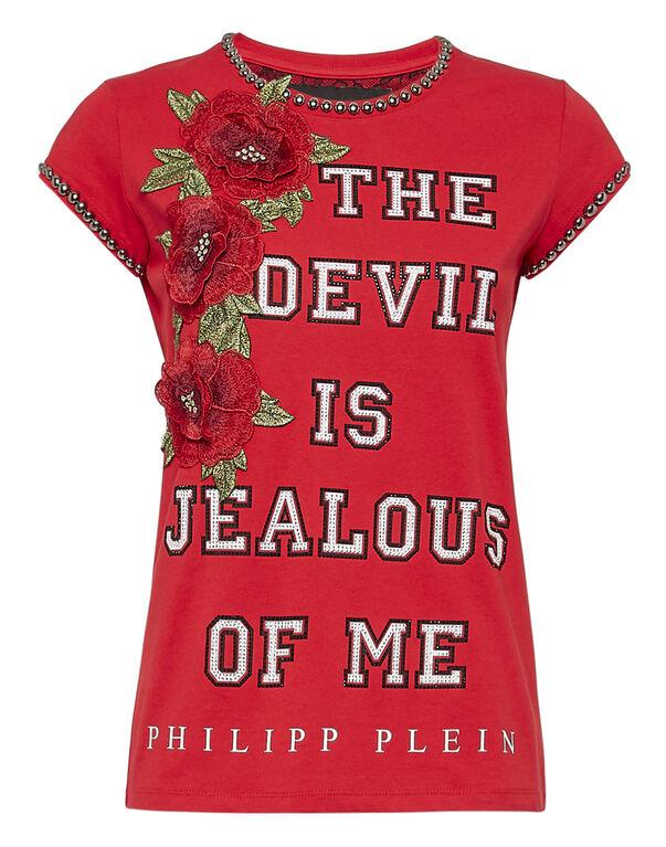 """T-shirt Round Neck SS """"Devil is jealous"""""""