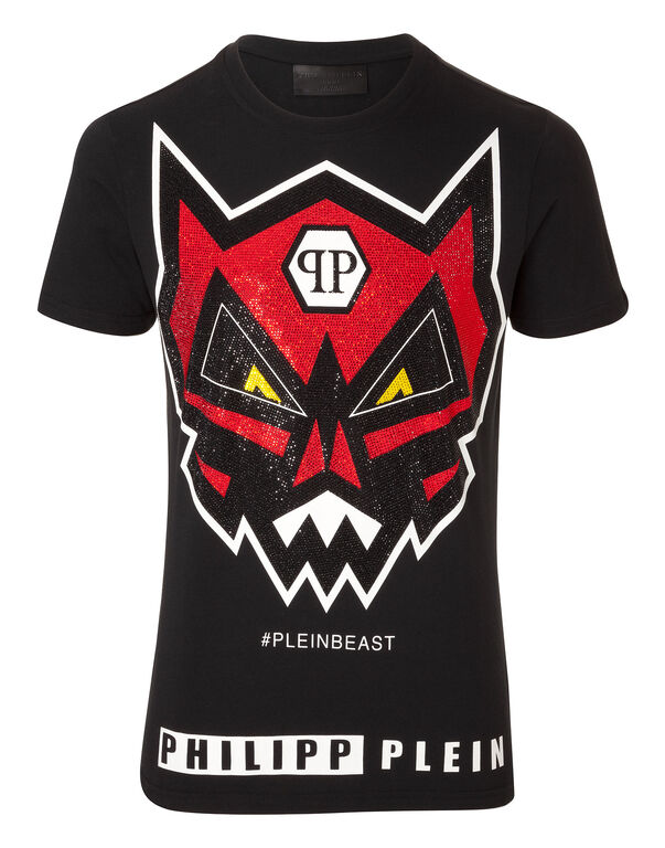 t shirt angry monster philipp plein outlet. Black Bedroom Furniture Sets. Home Design Ideas