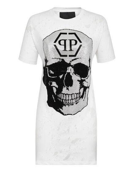 T-shirt dress round Neck SS Destroyed