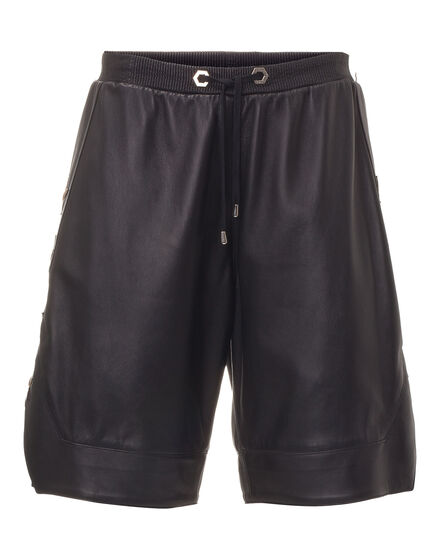 Leather Shorts Gold stars