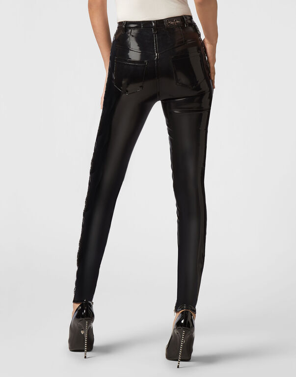 Super High Waist Jegging Pinstripe Plein