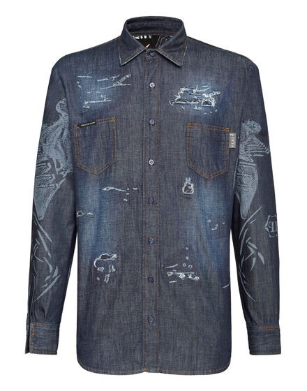 Denim Shirt Ls Psychosocial