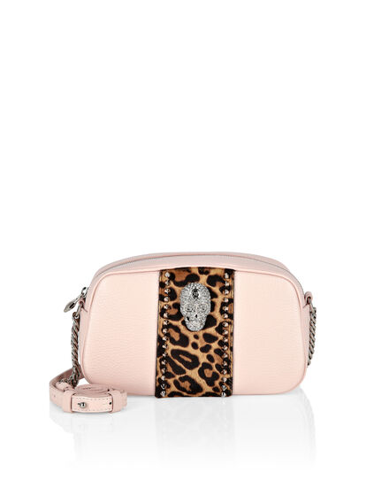 Shoulder Bag skull crystal Leopard