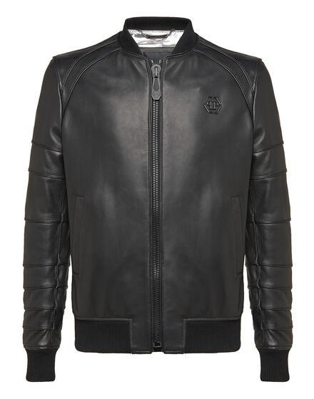 Leather Bomber Believe