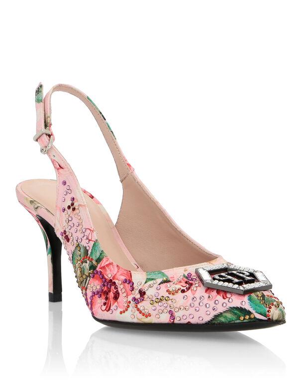 Decollete Low Heels Flowers