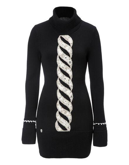 Knit Day Dress Twist Perls