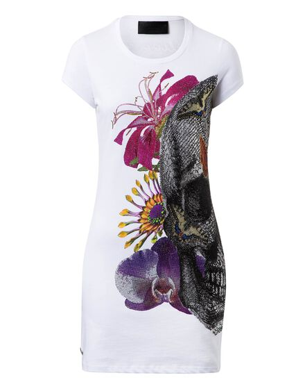 T-shirt Round Neck SS Butterfly and flowers