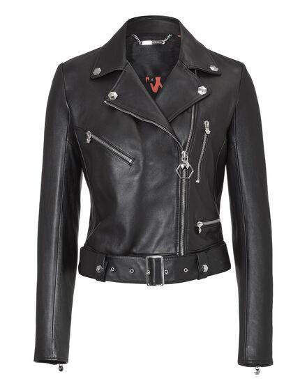 Leather Jacket Rainbow