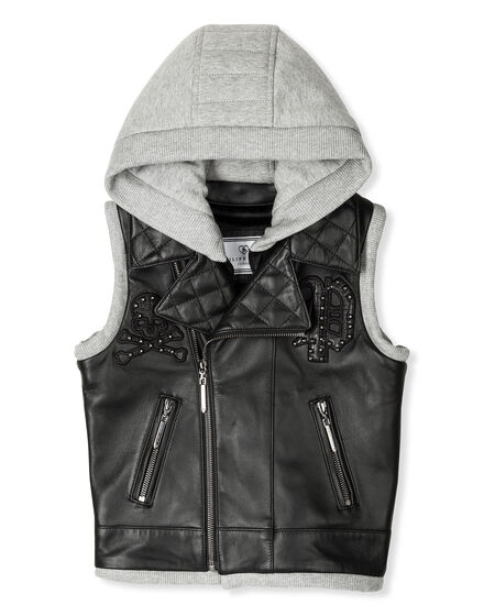 Leather Vest Long Rudi