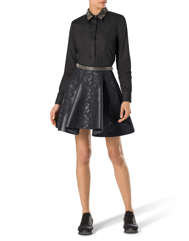 "leather skirt ""warrior gal"""