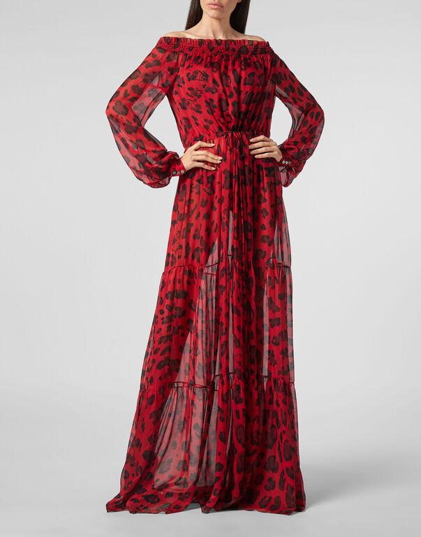 Long Dress Leopard
