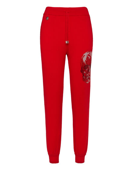 Knit Jogging Trousers Skull