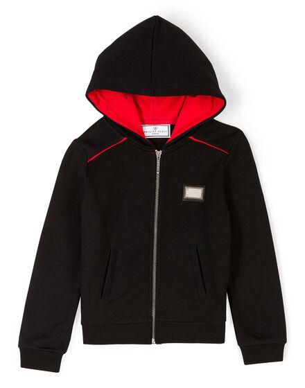 Hoodie Sweatjacket Red Shock