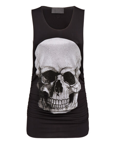 Tank top Strass skull