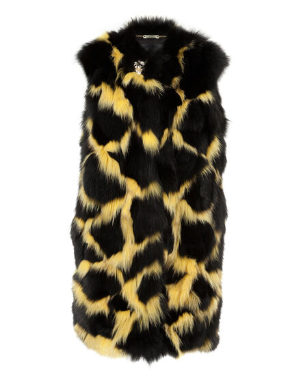 Fur Vest Long Aquilla