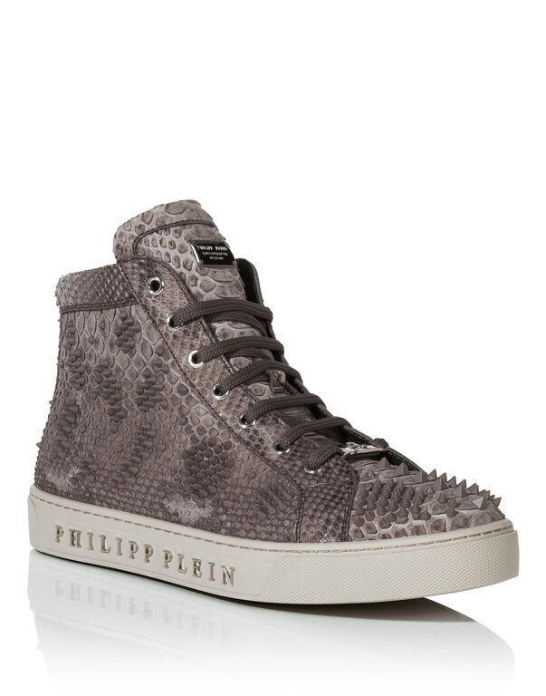 """Hi-Top Sneakers """"skull lilac"""""""