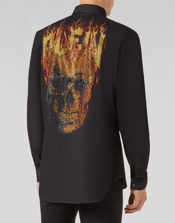 """Shirt Crystal cut LS """"Deven"""""""