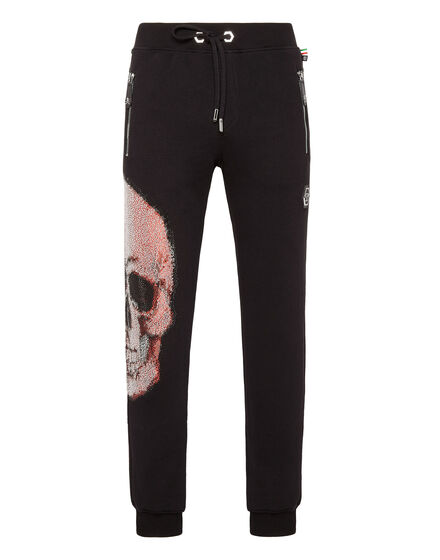 Jogging Trousers Strass skull