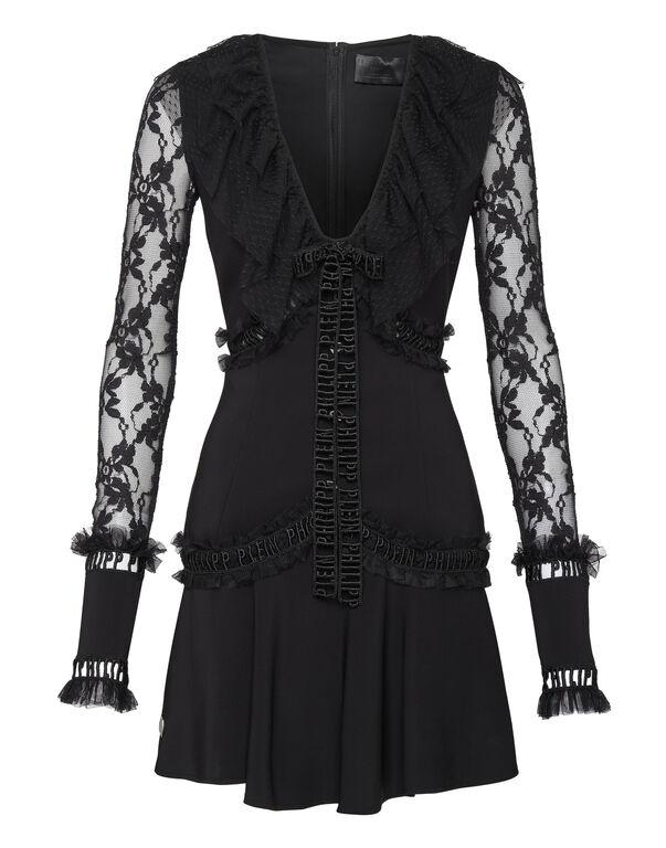 Short Dress Crystal Plein