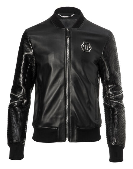 Leather Bomber Tian