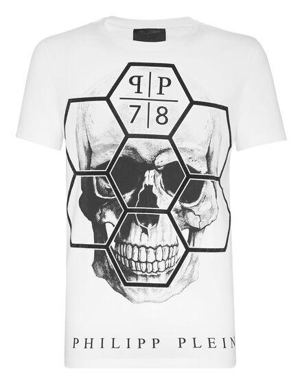 T-shirt Round Neck SS Skull Exagonal