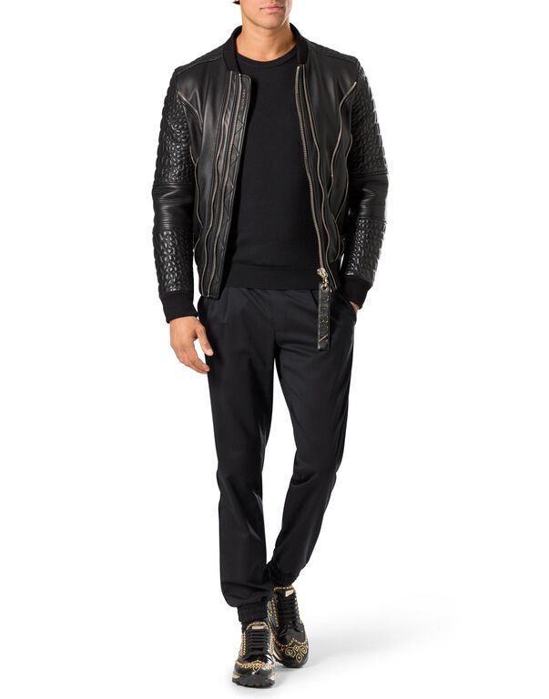 "leather bomber ""common"""