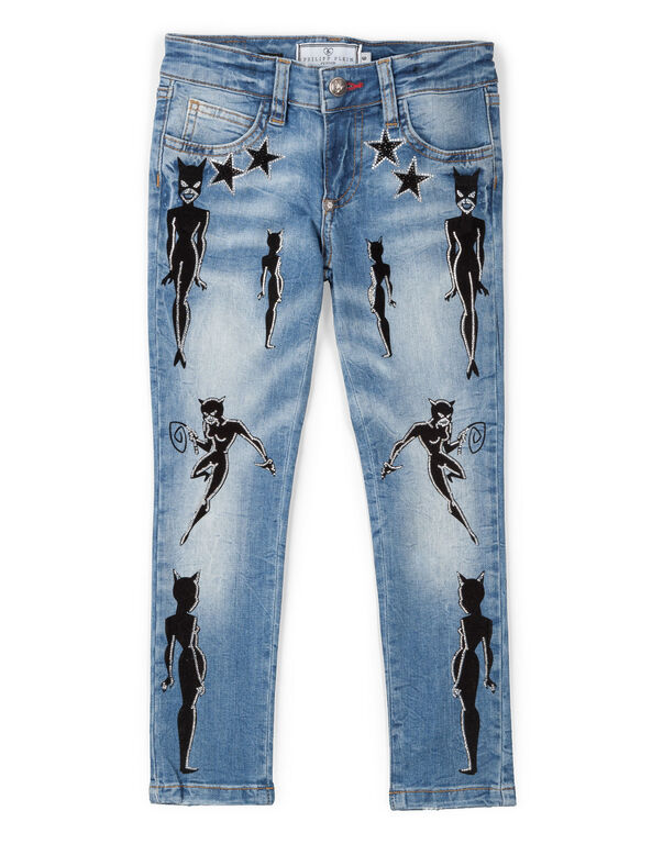 "denim skinny ""kitten"""