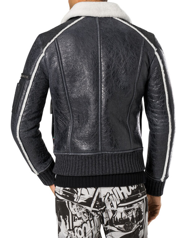 "leather jacket ""animalistic"""