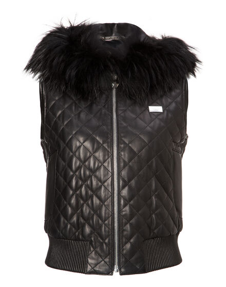 Leather Vest Short Bernard