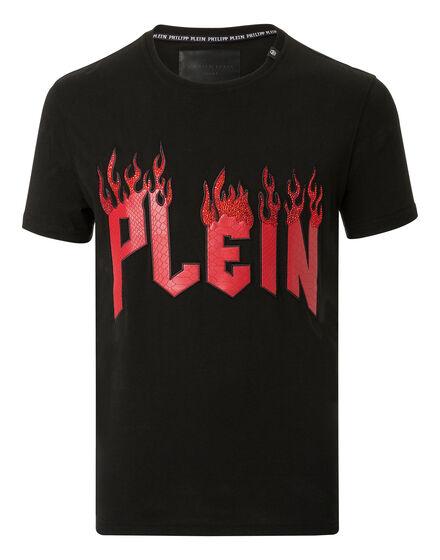 T-shirt Round Neck SS Plein in flame