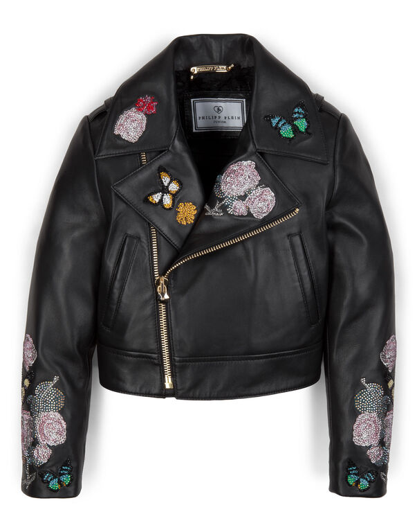 "leather jacket ""merida"""