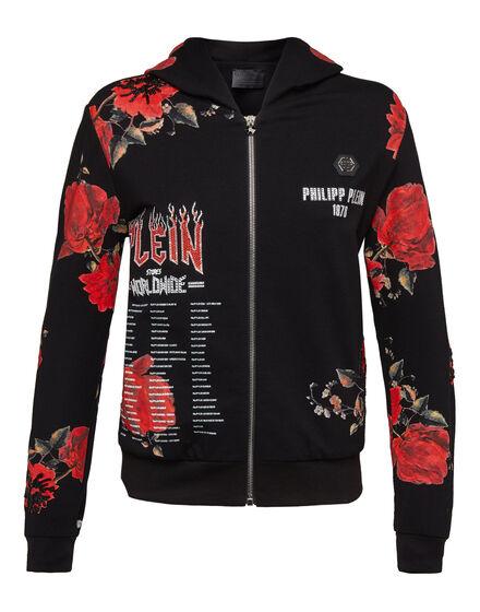 Hoodie Sweatjacket Sweet Flowers