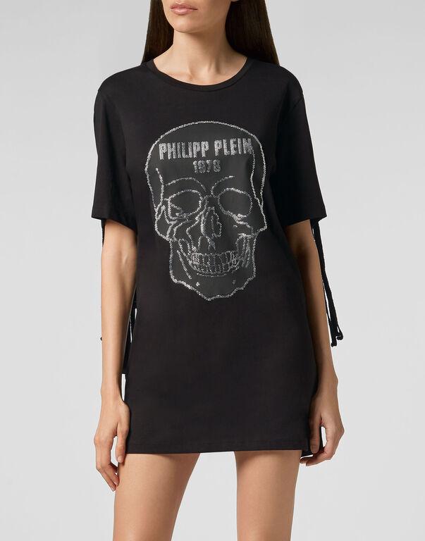 T-Shirt Short Dresses Fringe