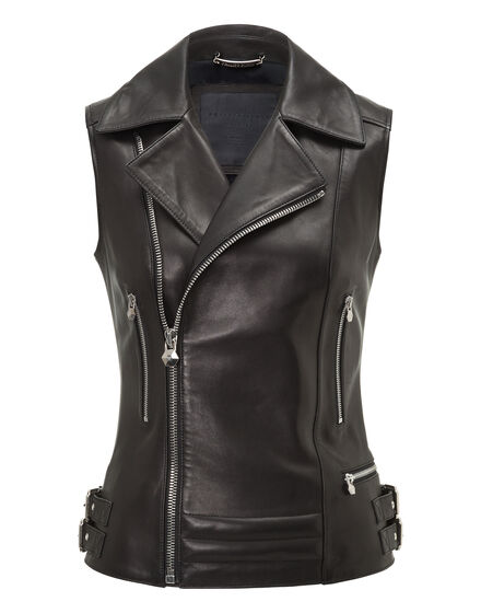 Leather Vest Short Ushers