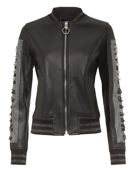 Leather Bomber Byte