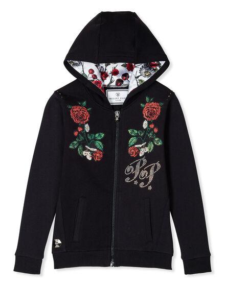 Hoodie Sweatjacket Flower Alem