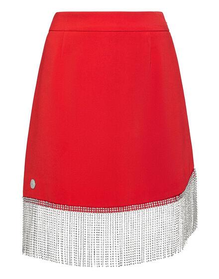 Short Full Color Crystal  Skirt Fringe