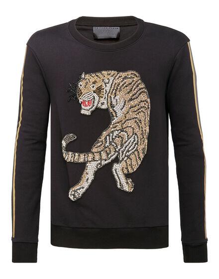 Sweatshirt LS Tigre strass
