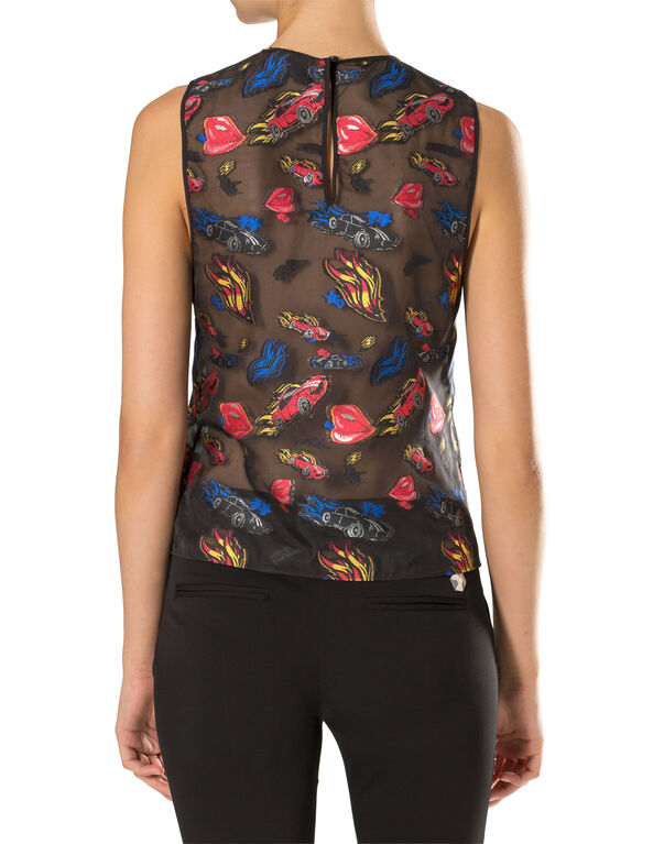 "Sleeveless Top ""Porto-Novo"""